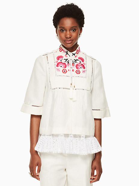 Elyce Jacket, Cream - Size 0