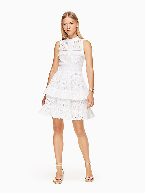 Kate Spade Evelina Dress, Fresh White - Size 0