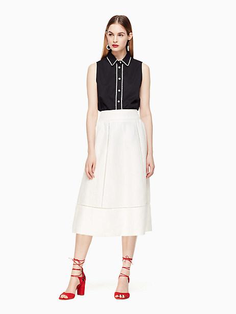 Kate Spade Leighton Skirt, Cream - Size 0