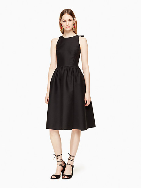 Kate Spade Bow Back Fit And Flare Dress, Black - Size 0