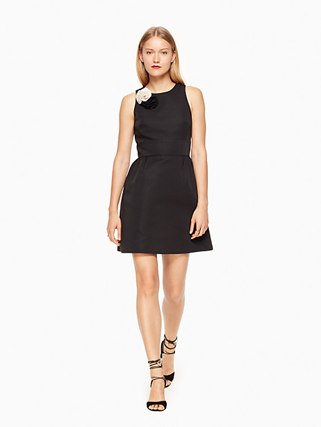 Kate Spade Carnation Fit And Flare Dress, Black - Size 0