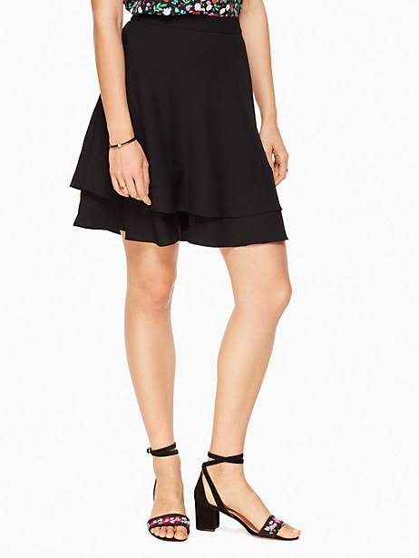 Kate Spade Double Layer Skirt, Black - Size 0