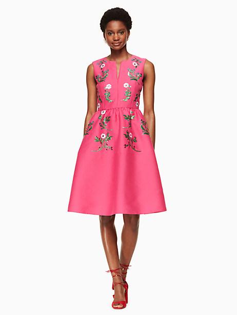 Kate Spade Floral Embellished Dress, Bougainvillea - Size 0
