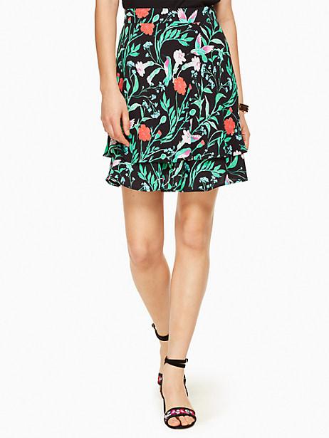 Kate Spade Jardin Double Layer Skirt, Black - Size 0