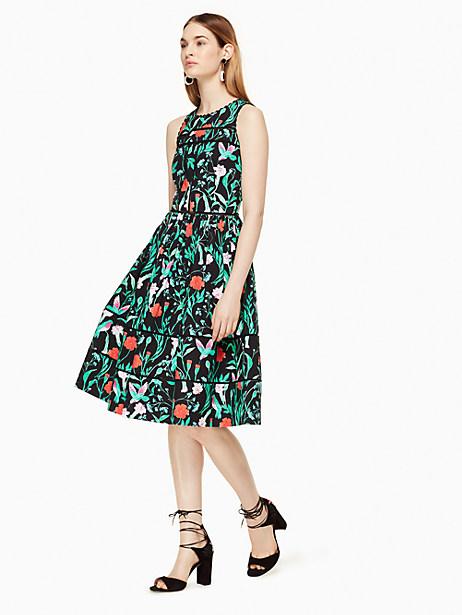 Kate Spade Jardin Poplin Dress, Black - Size 0