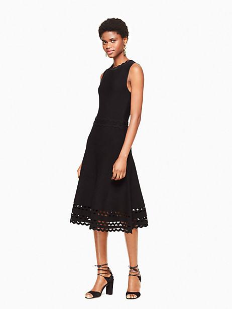 Kate Spade Ric Rac Sweater Dress, Black - Size L
