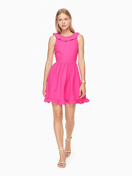 Kate Spade Ruffle Back Mini Dress, Bougainvillea - Size 0