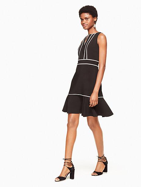 Kate Spade Lace Inset Crepe Dress, Black - Size 0