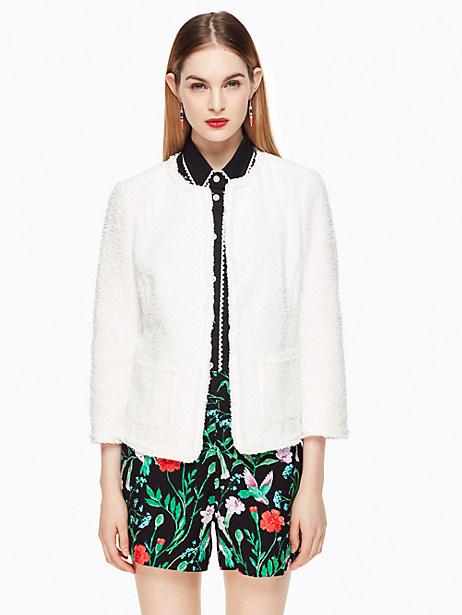 Tweed Jacket, Fresh White - Size 0