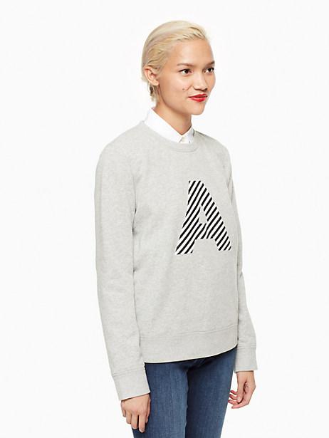 Kate Spade Initial Sweatshirt, A - Size L