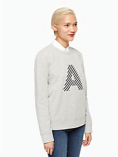 initial sweatshirt by kate spade new york