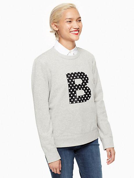 Kate Spade Initial Sweatshirt, B - Size L