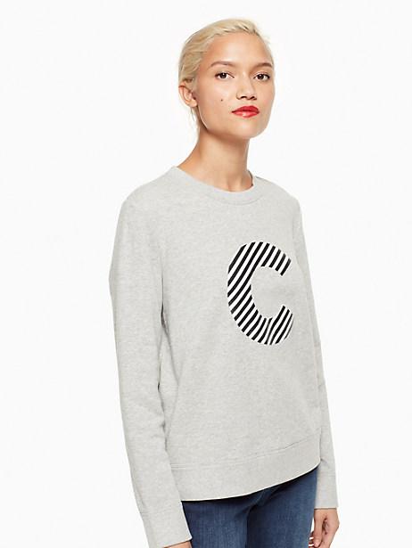 Kate Spade Initial Sweatshirt, C - Size L