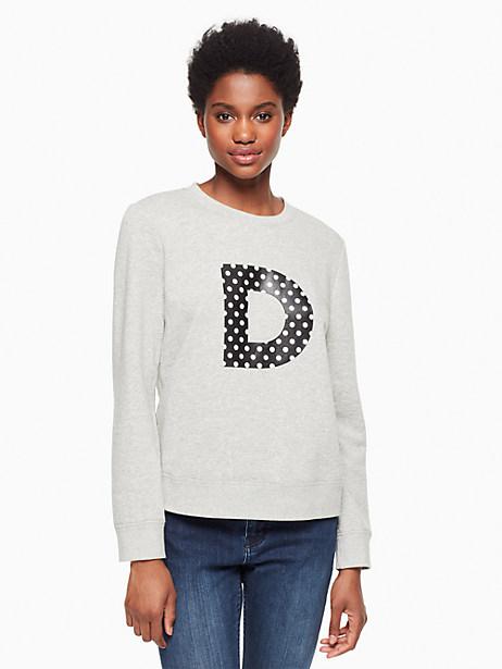 Kate Spade Initial Sweatshirt, D - Size L