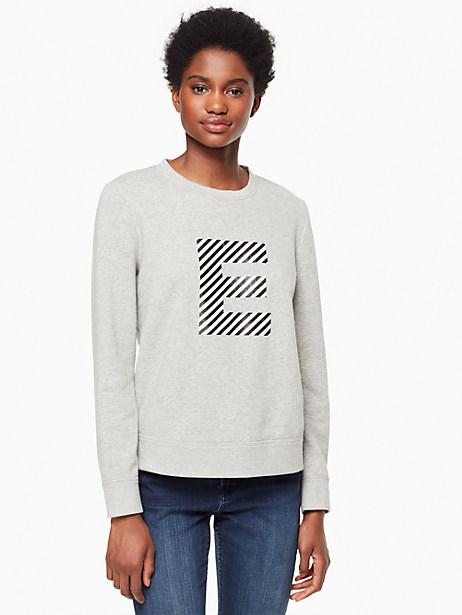 Kate Spade Initial Sweatshirt, E - Size L