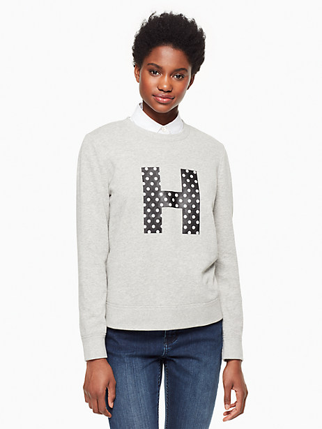Kate Spade Initial Sweatshirt, H - Size L