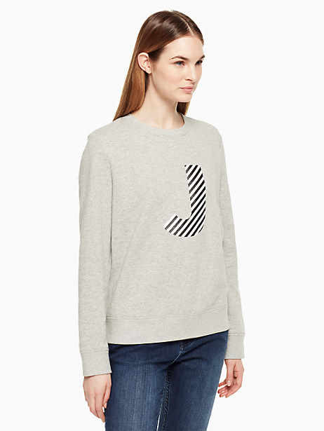 Kate Spade Initial Sweatshirt, J - Size L