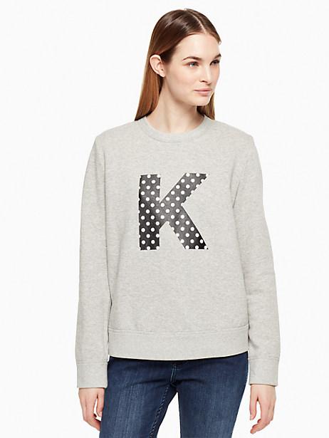 Kate Spade Initial Sweatshirt, K - Size L