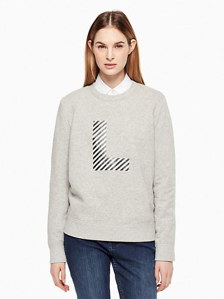 Kate Spade Initial Sweatshirt, L - Size L