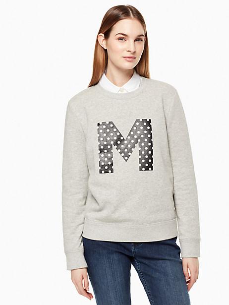 Kate Spade Initial Sweatshirt, M - Size L