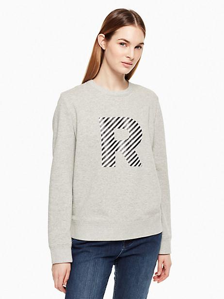 Kate Spade Initial Sweatshirt, R - Size L