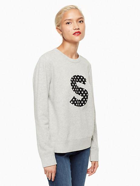 Kate Spade Initial Sweatshirt, S - Size L