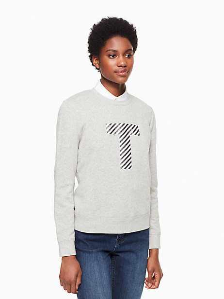Kate Spade Initial Sweatshirt, T - Size L