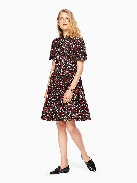 Kate Spade Boho Floral Shirtdress, Black - Size 10