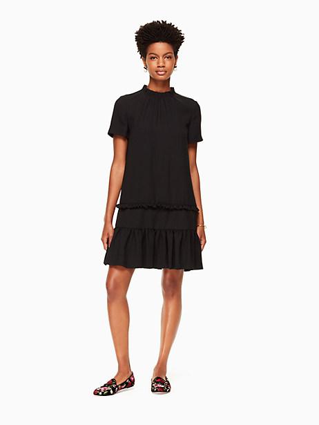 Kate Spade Ruffle Shift Dress, Black - Size L