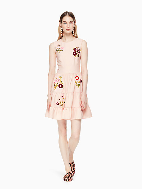 Kate Spade Floral Embroidered Dress, Rose Dew - Size 00