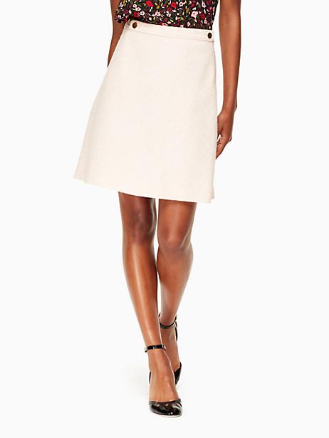 Kate Spade Tweed Military Skirt, Rose Dew - Size 2