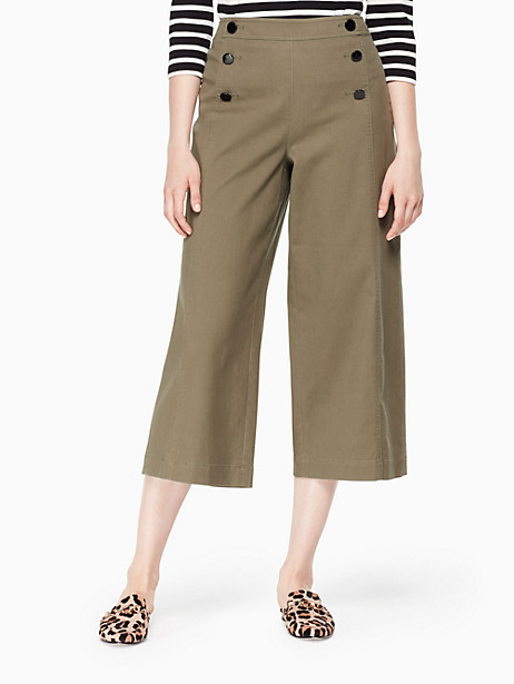 Kate Spade Cropped Military Pant, Olive Green - Size 0