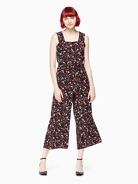Kate Spade Boho Floral Jumpsuit, Black - Size 0