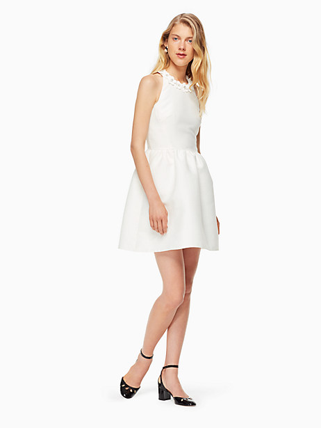 Kate Spade Poppy Embellished Mini Dress, Cream - Size 0