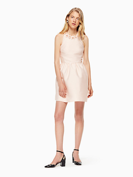 Kate Spade Poppy Embellished Mini Dress, Rose Dew - Size 0