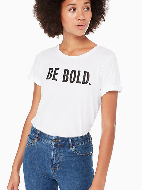 Kate Spade Be Bold Tee, White - Size L