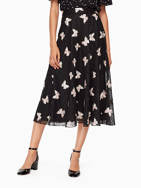BUTTERFLY EMBROIDERED SKIRT