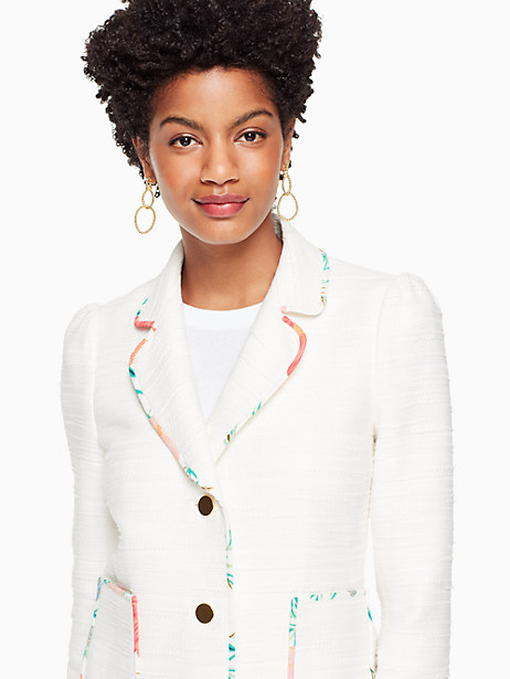 blossom trim tweed jacket by kate spade new york