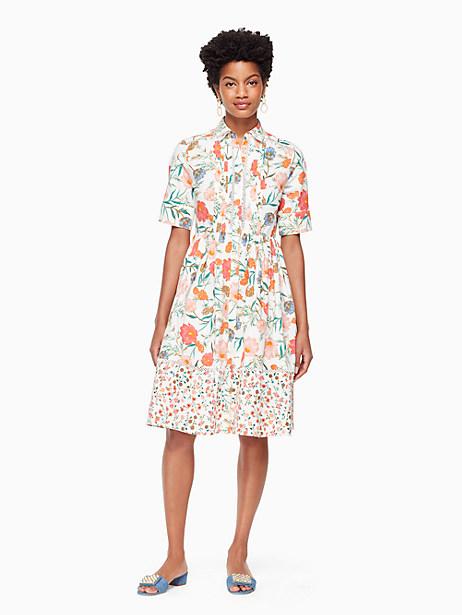 blossom poplin shirtdress by kate spade new york