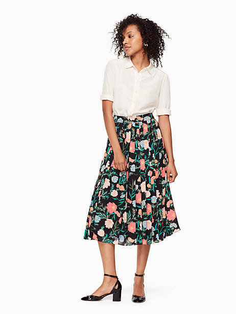 blossom pleated skirt by kate spade new york