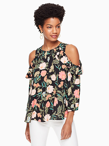 blossom cold shoulder top by kate spade new york