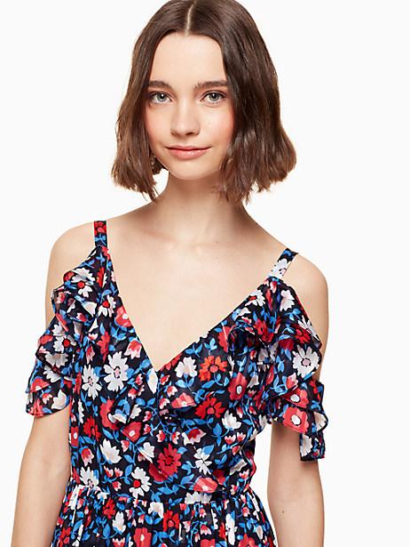 daisy satin stripe midi dress by kate spade new york