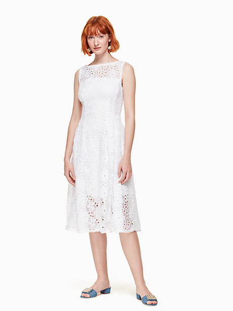 lace fit and flare dress by kate spade new york