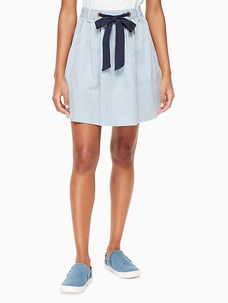 Kate Spade Railroad Denim Skirt, Indigo/Cream - Size 12