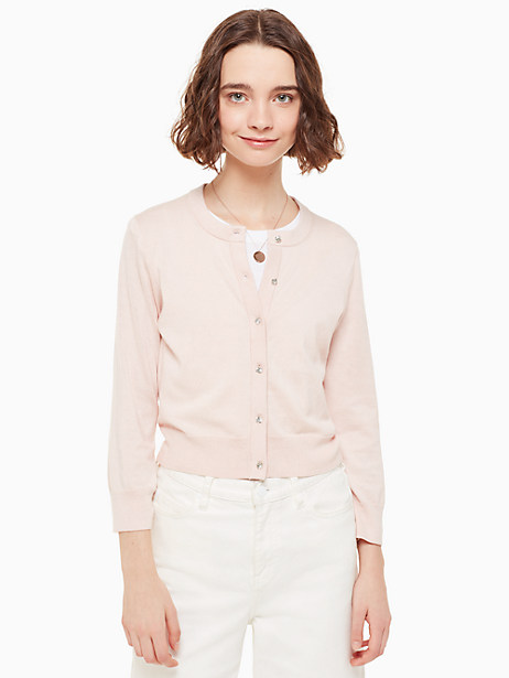 jewel button cropped cardigan by kate spade new york