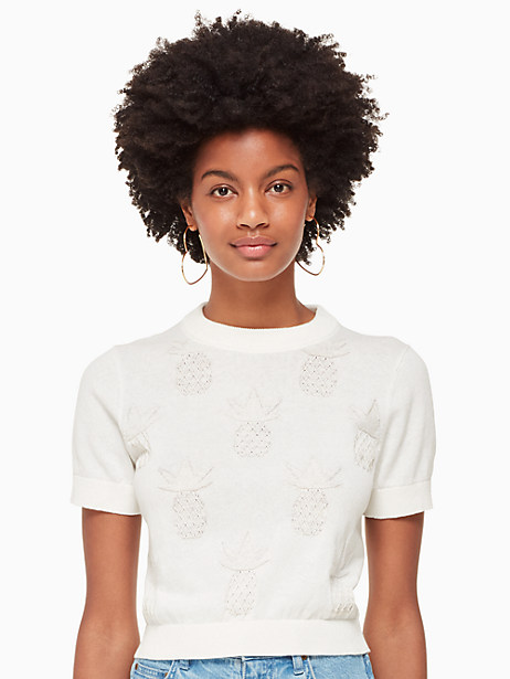 pineapple textured sweater by kate spade new york