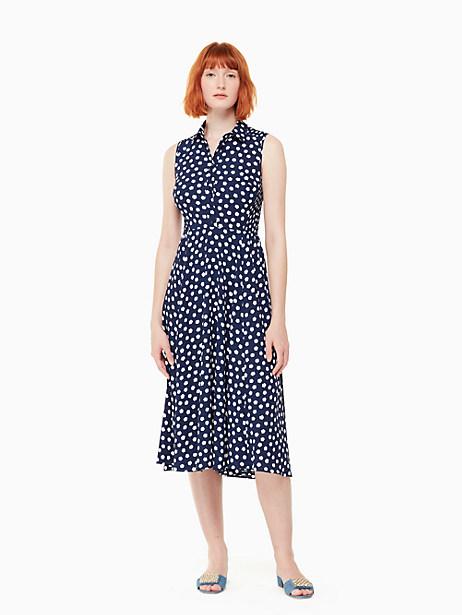 Kate Spade Cloud Dot Midi Dress, French Navy/Fresh White - Size 0