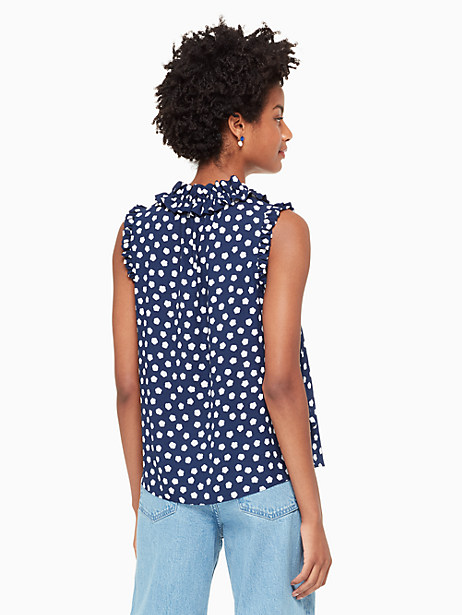 cloud dot tie front shell by kate spade new york