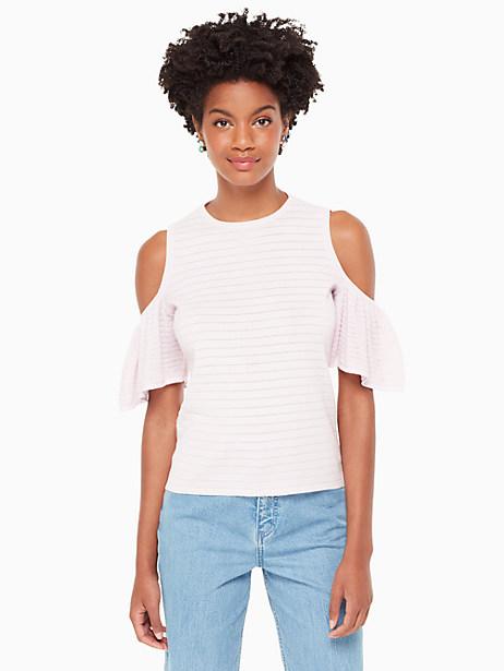 Kate Spade Cold Shoulder Sweater, Pink Lemonade - Size L