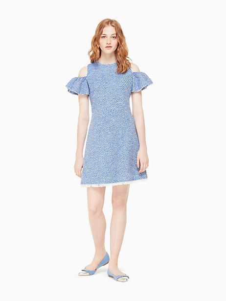 cold shoulder tweed dress by kate spade new york